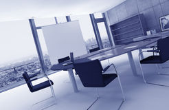 Contemporary meeting room with conference table Royalty Free Stock Images