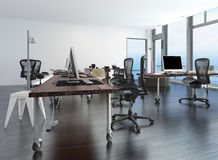 Contemporary minimalist office interior Royalty Free Stock Photo