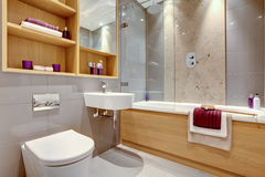 Contemporary Modern Bathroom Royalty Free Stock Image