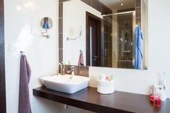 Contemporary bathroom design royalty free stock image