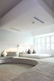 contemporary modern white interior living room Stock Images