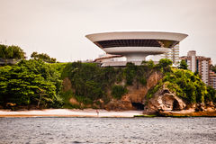 Contemporary Museum of Art in the city of Niteroi Royalty Free Stock Images