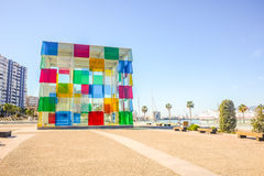 Contemporary museum Pompidou centre in Malaga, Andalusia, Spain. royalty free stock photography