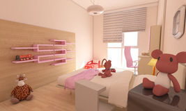 Contemporary Nursery - Teen Room Interior Design Royalty Free Stock Photos