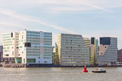 Contemporary office buildings in Amsterdam center Stock Photo