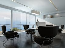 Contemporary office conference room interior Stock Images