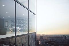 Contemporary office exterior/interior Stock Photo