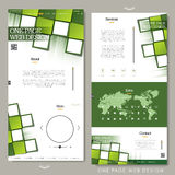Contemporary one page website template design Royalty Free Stock Photos