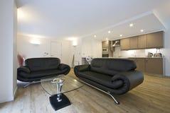 Contemporary open plan living area Stock Photos