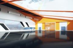 Contemporary orange interior Royalty Free Stock Photo