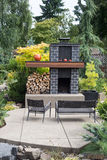 Contemporary Outdoor Fireplace Stock Image