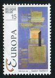 Contemporary Paintings Florence 1960 by Gaston Bertrand. RUSSIA KALININGRAD, 20 OCTOBER 2015: stamp printed by Belgium, shows Contemporary Paintings Florence Stock Photo