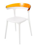 Contemporary plastic chair Stock Photos