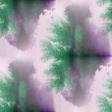 Contemporary purple, green art seamless texture watercolor unusu Stock Photos