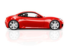 Contemporary Red Shiny Sport Car Royalty Free Stock Image