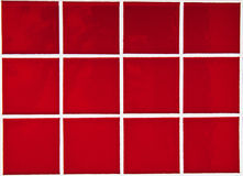 Contemporary Red Tile glossy mosaic Royalty Free Stock Photo