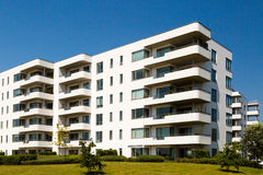 Contemporary residential building Royalty Free Stock Images