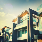 Contemporary Residential Building Exterior Concept Royalty Free Stock Image