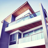Contemporary Residential Building Exterior in the Daylight.  Stock Photo