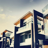 Contemporary Residential Building Exterior Daylight Concept Stock Images