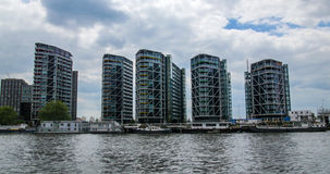 Contemporary riverside real estate development in West London Royalty Free Stock Image