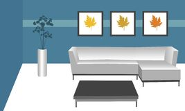 Contemporary room Royalty Free Stock Image