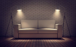 Contemporary room with sofa Stock Images
