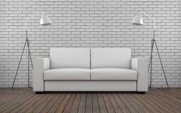 Contemporary room with sofa Stock Photo