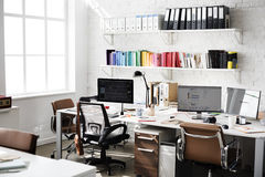 Contemporary Room Workplace Office Supplies Concept Stock Image