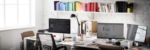 Contemporary Room Workplace Office Supplies Concept Royalty Free Stock Photo
