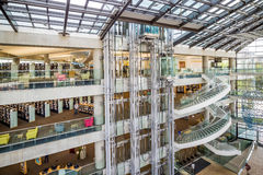Contemporary Salt Lake City Public Library. SALT LAKE CITY, UTAH - OCTOBER 1: Interior of the contemporary Salt Lake City Public Library on October 1, 2015 in stock photo