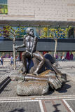 Contemporary sculpture near Galeria Kaufhof at Zeil Stock Image