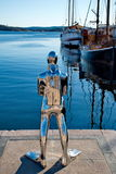 Contemporary scuplture of a diverr in Oslo Royalty Free Stock Photos