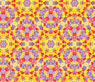 Contemporary seamless pattern with beautiful ornament of yellow, red and violet shades Stock Image