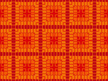 Contemporary seamless pattern with decorative geometrical objects of red and orange colors Stock Photos
