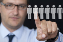 Contemporary selection of workers Stock Images