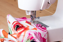 Sewing Machine and Textile Stock Image