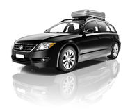 Contemporary Shiny Outback Black Car Royalty Free Stock Photos