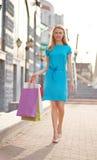 Contemporary shopper Royalty Free Stock Image