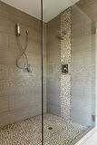 Contemporary Shower With Dual Heads Stock Photography