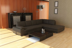 Contemporary sitting room Stock Images