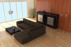 Contemporary sitting room Stock Image