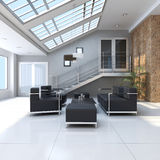 Contemporary sitting room Royalty Free Stock Photo