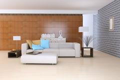 Contemporary sitting room Royalty Free Stock Image