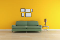 Contemporary sitting room Stock Photos