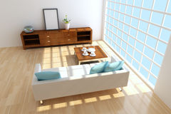 Contemporary sitting room Royalty Free Stock Photos