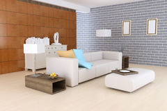 Contemporary sitting room Royalty Free Stock Images