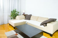 Contemporary sitting room. Stylized living room. Royalty Free Stock Photo