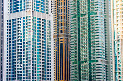 Contemporary skyscrapers in Dubai Royalty Free Stock Photos
