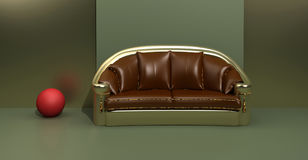 Contemporary sofa Royalty Free Stock Photography